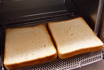 食パンは凍ったままトースターで
